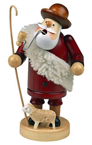 """Los fumadores para ahumar de hombre en forma de personaje de humo personaje """"de pastor alemán"""" de alrededor de 14 cm de alto, de madera, diseño de Navidad de adviento en forma de caja de regalo (30104-14)"""