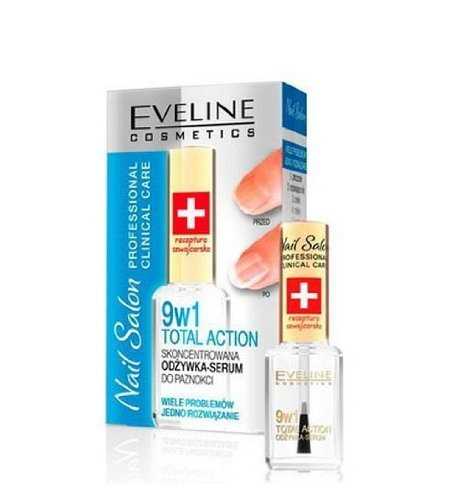 Eveline Nail Nail Salon Professional Clinical Care, Total Action 9in1 12ml -