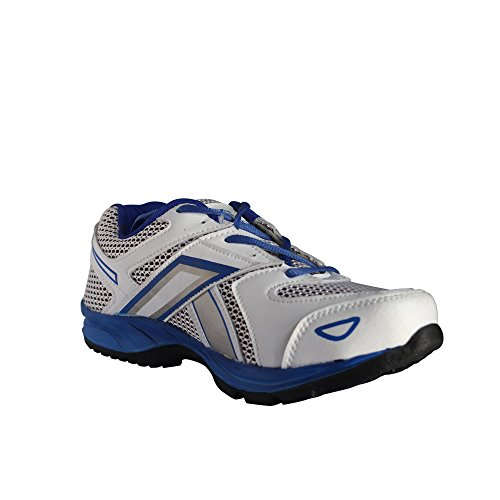 Bostan Pixel Sports Running Shoes (7, White/Blue)