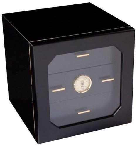 adorini Cave à cigares compacte 100 Deluxe - Laquage Noir Haute qualité - ACI-ADO123