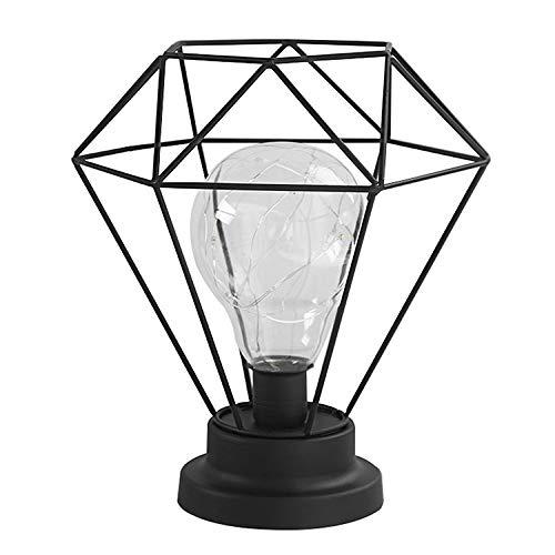YU-K Diamond kleine Nachtlicht Zimmer sind geschmackvoll in einem Mädchen im Teenageralter Schlafzimmer Mehrbettzimmer Schlafsaal Geschenk Schreibtisch Lampen geschmückt, 21 * 18 * 26 cm, Schwarz, USB