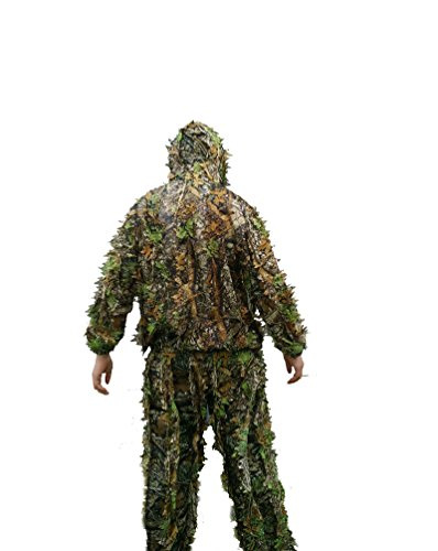 Jagd Kleidung 3D Maple Leaf Bionic Ghillie passt Kleidung Jacke und Hose, Herren, mehrfarbig (Maple Leaf Jacke)