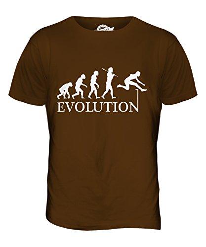 CandyMix Hürdenlauf Evolution Des Menschen Herren T Shirt Braun