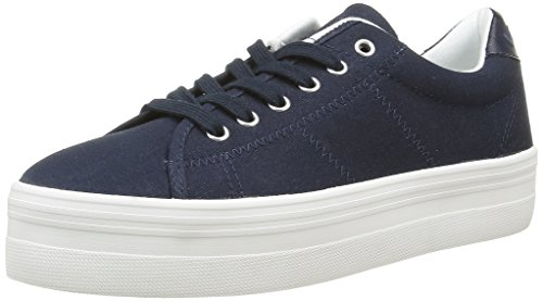 No NamePlato - Scarpe da Ginnastica Basse Donna , blu (Bleu (Canvas Navy Fox White)), 38 EU