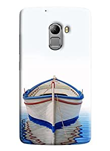 Omnam Boat Painted In Water With Shadow Designer Back Cover Case For Lenovo K4 Note