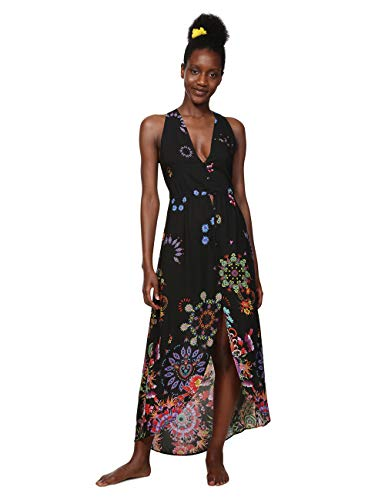 Desigual Damen Kleid Dress Swimwear Magda Woman Black, Schwarz (Negro 2000) X-Large