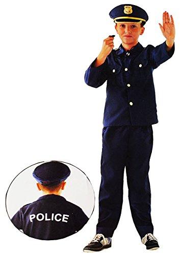 3 TLG. Kostüm -  Polizei / Polizist  - 6 bis 9 Jahre - Gr. 116 - 140 - Karneval - Fasching + Halloween / Hose + Hemd / Jacke + Mütze - Kinderkostüm - Mädche..