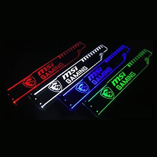 Yosy Anpassbare LED GPU Brace Universal-Acryl-Grafikkarte Halter ATX Dekoration GPU Halter mit LED-Leuchten - Weiß, Rot, Blau, Grün 4 Farben Optional