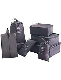 Koffer Organizer Set 8-teilig Etmury Reise Kleidertaschen f/ür Koffer Navy 1 Schuhbeutel and 1 Tasche f/ür Weiteres Zubeh/ör 2 Kordelzugbeutel f/ür Toilettenartikel 4 Packing Cubes f/ür Kleidung