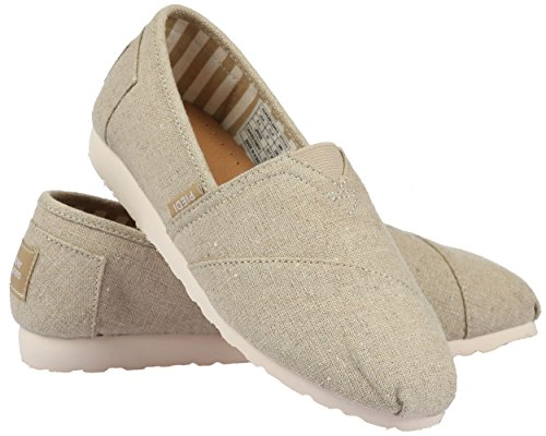 Unisex Fashion Paperplanes 1196–Casual, facile à enfiler-Ons Chaussons Beige - 1196-Beige