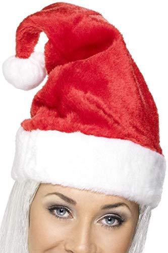 Smiffys Unisex Weihnachtsmütze, One Size, Rot und Weiß, 21441