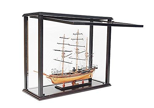 Old modernes Kunsthandwerk P058Tisch Top Display Case Medium vorne offen