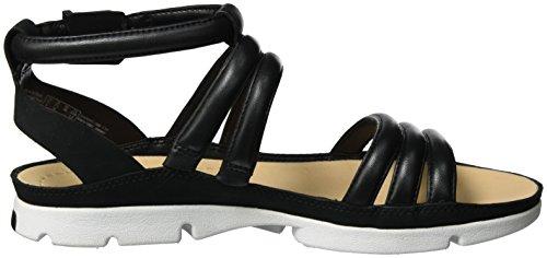 Clarks Tri Nyla, Sandales Bout Ouvert Femme Noir (Black Leather)