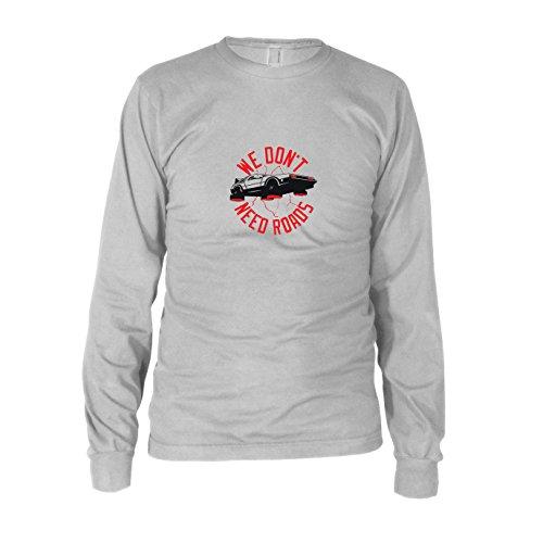 - Herren Langarm T-Shirt, Größe: XXL, Farbe: weiß (Zurück In Die Zukunft Doc Kostüme)