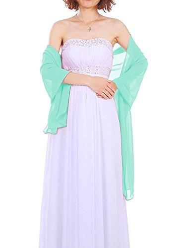 Dressystar AMY333 Chiffon Stola Schal für Kleider in verschiedenen Farben Mintgrün 200*75cm
