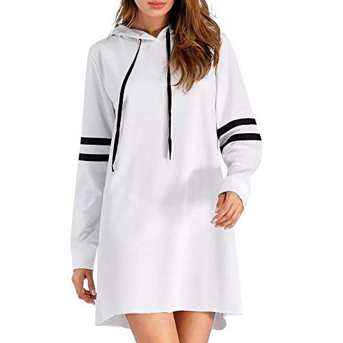 Briskorry Damen Hoodie Kleid Blusenkleider Langarm Sweatshirt Casual Freizeitkleid Herbst Kleid...