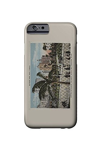 Hotel Vintage Park (Miami, Florida - View of Bayfront Park and Hotels - Vintage Poster (iPhone 6 Cell Phone Case, Slim Barely There))