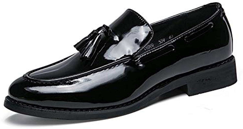 XHD-Scarpe Classico Business Oxford da da da Uomo Casual Britannico Moda Nappa Copertura Scarpe in Pelle Verniciata... | riparazione  365d9a
