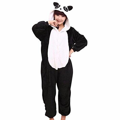 QIYUN.Z Unisexe Animal De Bande Dessinee Adulte Kigurumi Pyjama Doux Costume Cosplay De Vetements De Nuit Chaude Panda