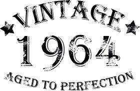 Mister Merchandise Tote Bag Vintage 1964 - Aged to Perfection 51 52 Borsa Bagaglio , Colore: Nero Nero