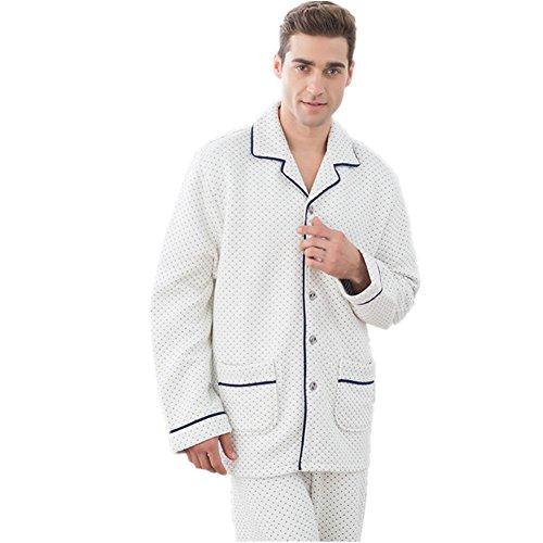 DMMSS Pigiama Set di coppia pigiama in cotone con scollo