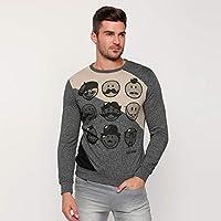 Smiley World Sweatshirts For Men, Multi Color XL