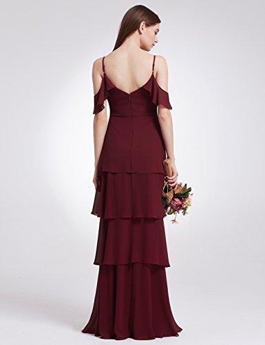 Ever Pretty Damen Elegant Lang Brautjungfern Kleid 07201 B Burgundy