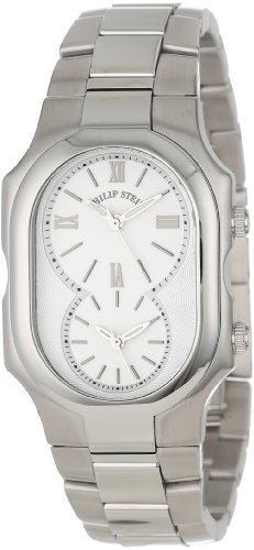 Philip Stein Unisex 2-NCW-SS Signature Classic White Dial Stainless Steel Bracelet Watch