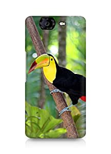 Amez designer printed 3d premium high quality back case cover for Micromax Canvas Knight A350 (Bird 2)
