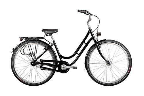 "28"" Zoll Alu VAUN Damen Fahrrad City Bike Shimano Nexus Nabendynamo Rh50 schwarz"