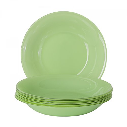 Bormioli 6er Set Glasteller Serie Tone, Farbe:light green, Einzelteil:Suppenteller