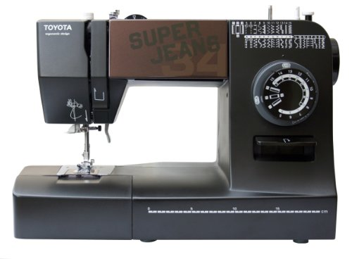 Toyota 34B Super Jeans Sewing Machine, Black