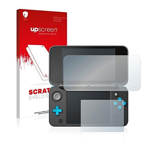upscreen Scratch Shield Clear Schutzfolie passgenau für New Nintendo 2DS XL, Anti-Fingerprint, starker Kratzschutz, hochtransparent