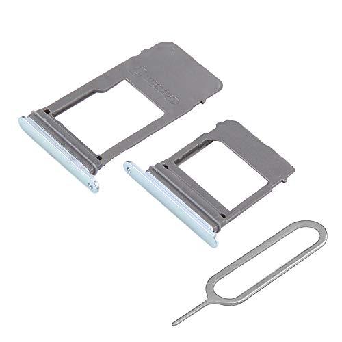 MMOBIEL Set 1 Tarjeta SIM y 1 Bandeja de Tarjeta SD Compatible con Samsung Galaxy A5 / A7 2017 (Azul) Incl. Sim Pin