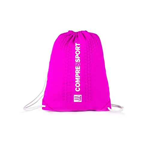 Compressport Endless Backpack Rucksack Beutel Sport Training Wettkampf Bag Tasche (blue) pink