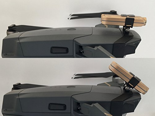Preisvergleich Produktbild Roboterwerk Drone Headlight / Nachtflug LED Licht (DJI Mavic Pro und Mavic Pro Platinum Drohne Zubehör Lampen) - 360 Lumen hellweiß (FPV Beleuchtung), 45° stufenlos neigbar, bis zu 90 Minuten Akkulaufzeit bei einem Gesamtgewicht von 35 Gramm