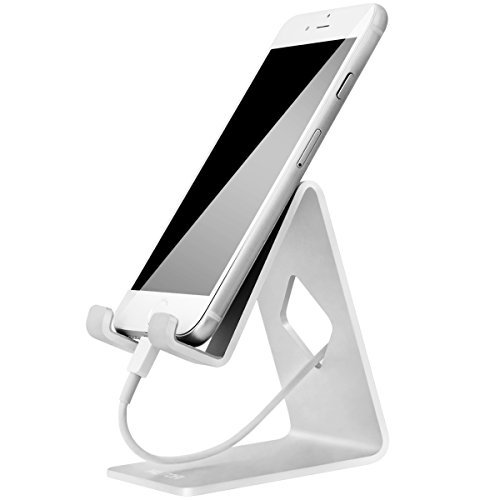 HOTOR Esunshine® Solid Aluminum Desk Desktop Stand for iPhone 6 6 plus 4 4s 5 5s 5c iPad 2/3 air mini/Samsung Galaxy S3/5 HTC ONE M7 Blackberry Tablet Tab Google Nexus Lumia and other Smartphone,Silver