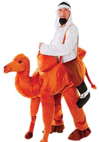 Fancy Ole - Herren Männer Kamel Kostüm, Karneval, Fasching, XS-M, Orange-Braun