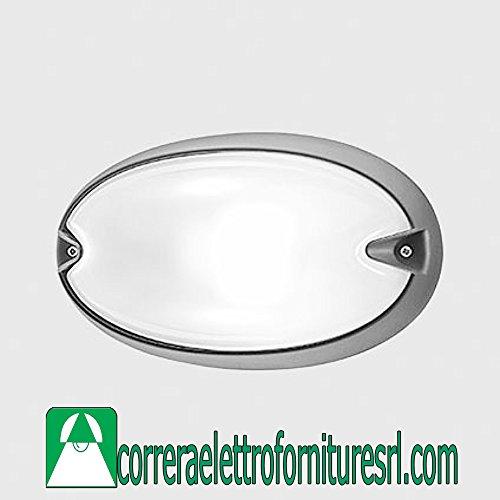 PRISMA Plafonnier Applique Murale extérieur Prisme Chip Ovale 25 Gris G23 2 x 9 W 005727