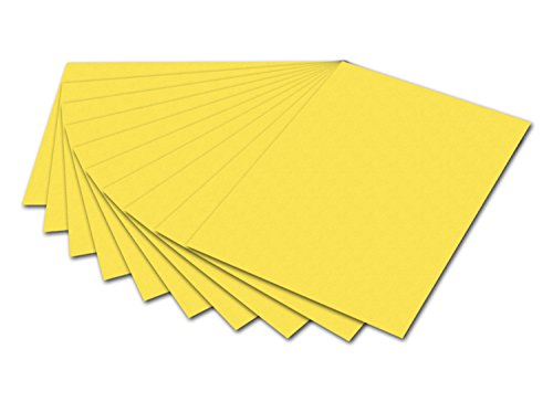 Preisvergleich Produktbild Folia 6112 Fotokarton 50x70 cm, 300 g Inhalt 10 Bogen Pack zitronengelb