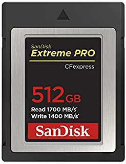 SanDisk Tarjeta Extreme Pro CFexpress Tipo B de 512 GB con hasta 1700 MB/s para vídeos Raw 4K (B07WYHNV94) | Amazon price tracker / tracking, Amazon price history charts, Amazon price watches, Amazon price drop alerts