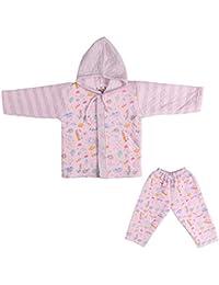 LK Vyapaar Pvt Ltd Unisex Cotton Winter Wear 2 Piece Hoodies (FIT-P275-WINT-HOOD-pink-2-010-07-2_12 - 18 Months)