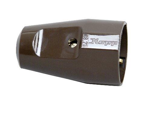 Kopp 182106000 Kunststoff-Schutzkontakt-Schalenkupplung, braun
