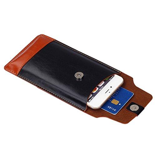 Pour iPhone 6 Plus / 6s Plus, sac à bandoulière à encolure verticale bicolourable à la mode et à la mode à la mode pour Samsung Galaxy S7 / G930 et S7 Edge / G935 et S6 / G920 et S6 Edge / G925 et S6  S-IP6G-0971BZ
