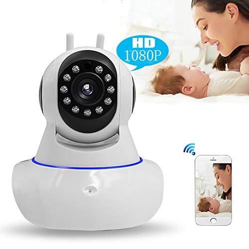 QZX Moniteur pour bébé avec caméra Caméra HD sans Fil 1080P avec Audio bidirectionnel Caméra de Vision Nocturne Caméra Intelligente Détection de Mouvement pour Animal bébé âgé