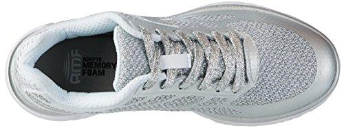 Lotto Sport Fox Ride Ii Amf W, Sneakers Basses Femme Gris (Slv Mt/wht)