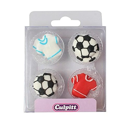 Football & Shirt Cake Toppers - 12 Pack -