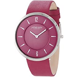 Johan Eric Vejle Women's Quartz Watch with Purple Dial Analogue Display and Purple Leather Strap JE5001-04-001.14