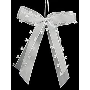 10x Autoschleifen Basic Set 21x2,5cm flieder Hochzeit Hochzeitsschleifen