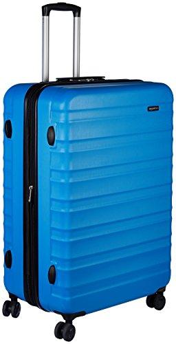 AmazonBasics Valise rigide à roulettes pivotantes, 79cm, Bleu clair